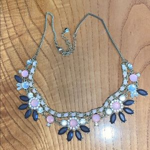 Light pink and navy blue necklace